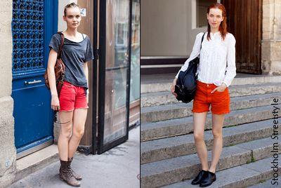 Shorts-rouges